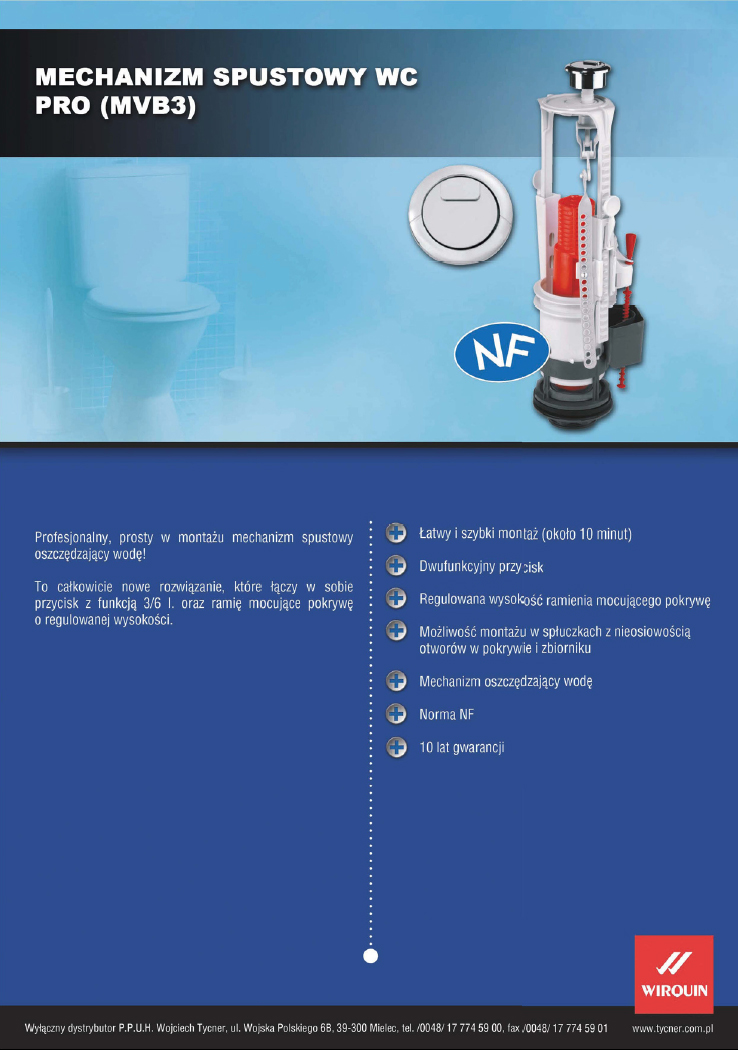 Karta techniczna - Mechanizm spustowy Pro - MVB3