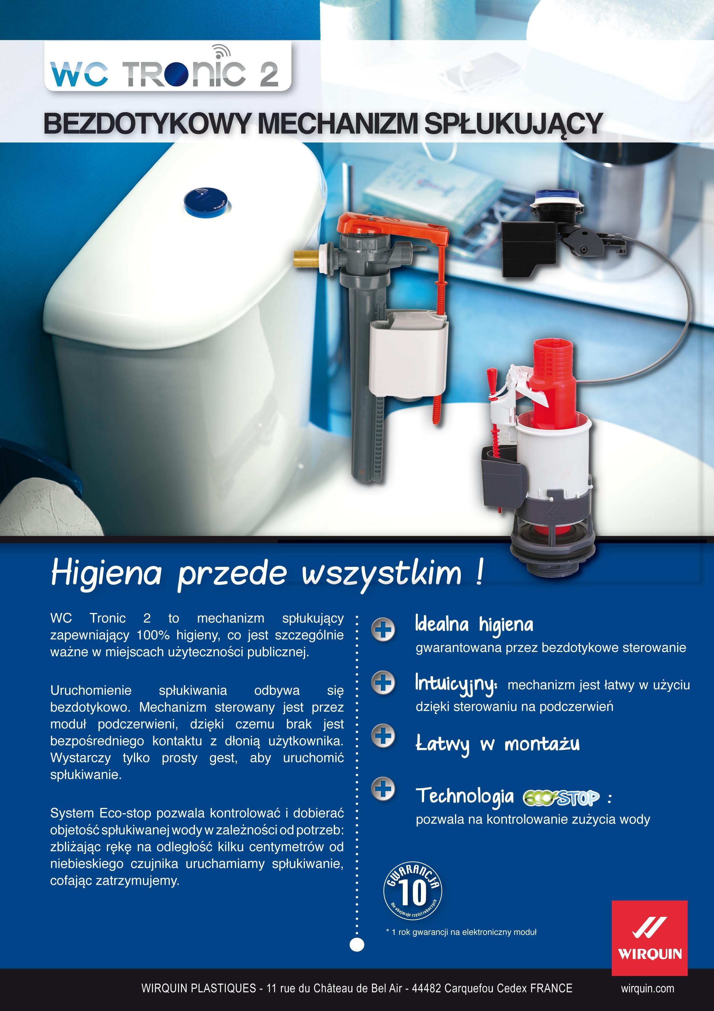 Karta techniczna - Mechanizm spustowy WC Tronic 2