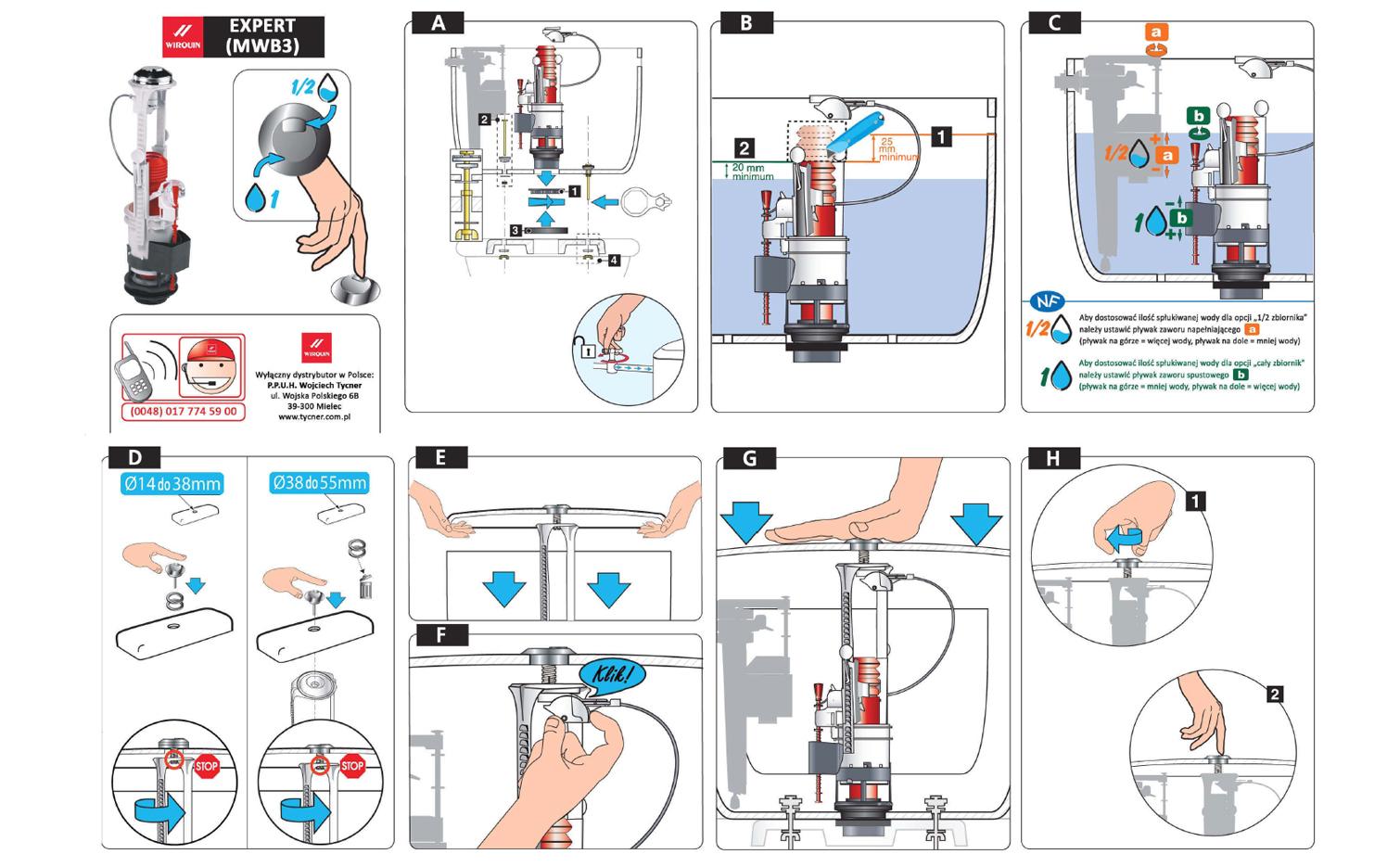Instrukcja montażu - Mechanizm spustowy Expert (MWB3)
