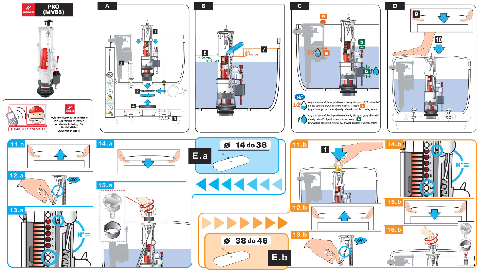 Instrukcja montażu - Mechanizm spustowy Pro (MVB3)